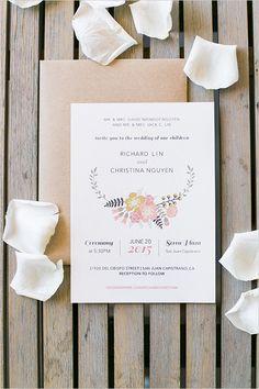 floral wedding stationery @weddingchicks