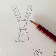 Meet little rabbit! It's nearly Easter :) rabbit cartoon Lisa Glanz ( Cartoon Drawings, Cute Drawings, Animal Drawings, Drawing Sketches, Simple Drawings, Drawing Stuff, Planner Doodles, Bujo Doodles, Easter Illustration