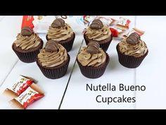 Nutella Bueno Cupcakes - The Baking Explorer Nutella Chocolate Cake, Nutella Bread, Chocolate Cake Recipe Easy, Nutella Cookies, Easy Cake Recipes, Cupcake Recipes, Dessert Recipes, Desserts, Baking Ideas