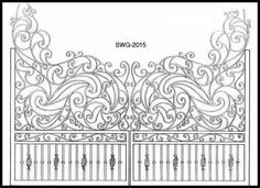 wrought iron gate - italian design
