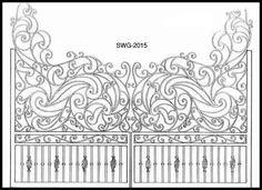wrought iron gate - italian design