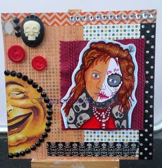 Card created by Shell. Features Llorona stamp set from Smeared Ink.