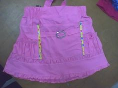 falda para niñas con bolsillos fruncidos con cintas,herrajes,elastico en pretina