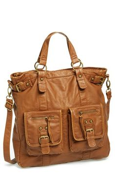 BP. Double Pocket Faux Leather Tote (Juniors) available at Nordstrom. Designed by T-Shirt & Jeans
