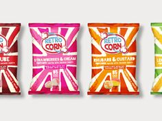 RetroCorn Popcorn on Packaging of the World - Creative Package Design Gallery