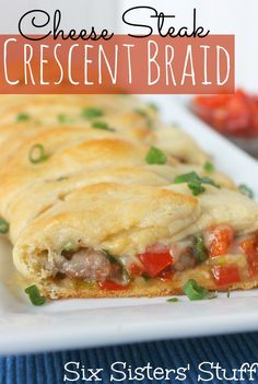 Easy Cheese Steak Crescent Braid Recipe from SixSistersStuff.com