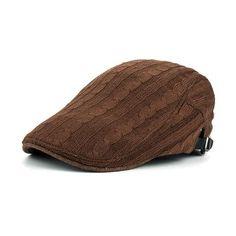 a4aecb320db Winter Cotton Beret Hat For Men - Khaki