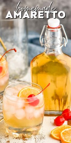 Homemade Amaretto Sangria Recipes, Drinks Alcohol Recipes, Cocktail Recipes, Drink Recipes, Alcoholic Beverages, Dessert Recipes, Bar Drinks, Cocktail Drinks, Yummy Drinks