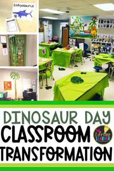 Check out this fun dinosaur classroom transformation theme for elementary students in first, second, third, fourth, fifth grade. This paleontologist room transformation will set the stage to engage and is stress-free! It's a worksheet or escape room alternative, and can be used in small groups or partners. 1st, 2nd, 3rd, 4th, 5th graders enjoy classroom transformation ideas. Digital and printables for kids (Year 1,2,3,4,5) #setthestagetoengage #classroomtransformation #mathactivities