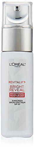 L'Oreal Paris Revitalift Bright Reveal SPF 30 Moisturizer... https://www.amazon.com/dp/B01F7SUHIO/ref=cm_sw_r_pi_dp_ritAxbGY7A5NG