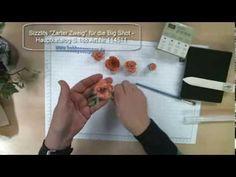 Papierblüten mit der Stanzform Spiralblume für die Big Shot