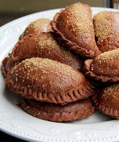 Chocolate dulce de leche empanadas.