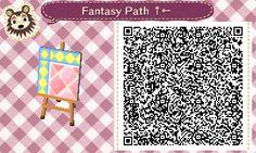Animal Crossing QR Codes ❤ Pink Fantasy  Diamond path  Upper Left Corner TILE#1 of 9