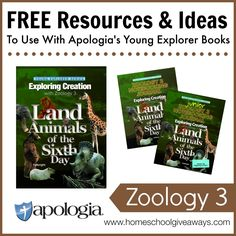 Free Resources and Ideas to Use with Apologia's Young Explorer Books - Zoology 3