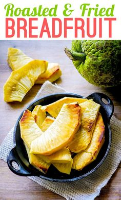 Try this simple technique for Roasted and Fried Breadfruit for a satisfying, starchy addition to nearly any meal. Haitian Food Recipes, Raw Food Recipes, Veggie Recipes, Cooking Recipes, Dump Recipes, Free Recipes, Keto Recipes, Jamaican Cuisine, Jamaican Recipes
