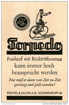 Original-Werbung / Inserat / Anzeige 1943 : TORPEDO - ca. 45 x 80 mm