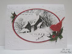 Snowy Postcard, snowflake background by quilterlin, via Flickr