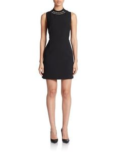French Connection Sundae Suiting Dress Women's Black 8