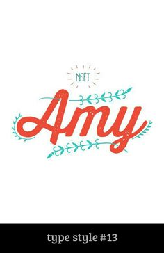 Type Style Fun, feminine and personality plus! That's Amy, and this typography expresses her perfectly! Website Sample, Adoptive Parents, Online Profile, Typography, Lettering, Profile Design, Beautiful Children, Book Design, Service Design