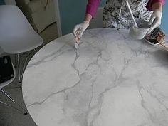 Faux Carrara Marble Ikea Hack Good Instructional Video Too