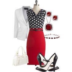 Interesting and cute color combination for a professional look.