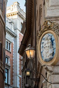 Street corner near Piazza Navona Rome, Italy