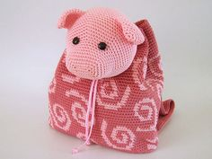 Pig Backpack - Allcrochetpatterns.net
