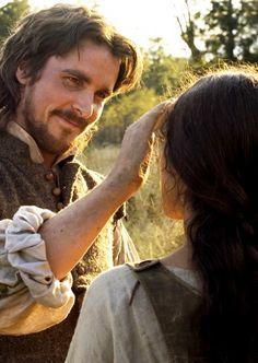 "tarkowski: "" Christian Bale & Q'Orianka Kilcher in The New World "" Christian Bale, John Smith, Colin Farrell, Story Inspiration, Character Inspiration, Pocahontas, Chris Bale, Mozart, World Movies"