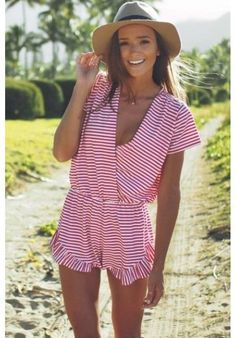 A cotton romper is the perfect beach to boardwalk piece.