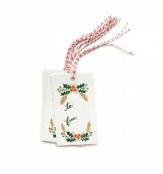 Garland Package of 10 Gift Tags & Tag Ties