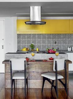 amarelo e preto na cozinha / yellow and black in the kitchen