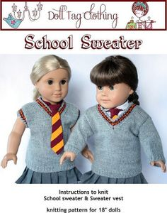 Ravelry: School Sweater for 18 inch Dolls pattern by Liese Brouwer