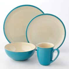 Denby Dine Turquoise 4-pc. Dinnerware Set