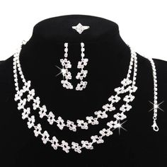Beora Austrian Diamonds Silver Plated Flower Jewellery Sets by Trendymela.com