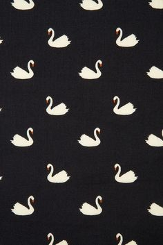 Swan Print Kleid - home accessories - Dekor Labor Swan Wallpaper, Pattern Wallpaper, Wallpaper Backgrounds, Wallpapers, Surface Pattern Design, Pattern Art, Textile Prints, Textile Design, Conversational Prints