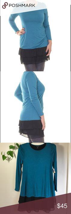 "Women's Sheer Viscose Long-Sleeve Dress. B054 Women's Sheer Viscose Long-Sleeve Dress. 100% viscose. Small it's 17"" across armpit to armpit 35"" long💕Medium it's 18"" across armpit to armpit 35"" long💕Large it's 20"" across armpit to armpit 36"" long. Fabric stretches a little bit. Lightweight fabric. Kensie Dresses Midi"