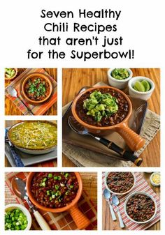 Seven Favorite Chili Recipes that Aren't Just for the Superbowl! This post has all my favorite chili recipes, enjoy! [from KalynsKitchen.com]