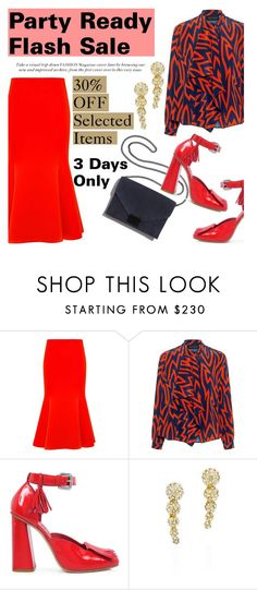 """""""Party Ready Flash Sale"""" by ifchic ❤ liked on Polyvore featuring McQ by Alexander McQueen, Karen Walker, SUNO New York, Loeffler Randall, Fallon and contemporary"""