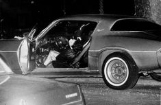Bonnano crime family associate, Louis Tuzzio, lies slumped in the driver's seat of his Chevrolet Camero. He was murdered by the Bonanno family on January Chevy Camaro, Chevrolet, Mafia Crime, Mafia Gangster, Brooklyn, Mafia Families, Post Mortem Photography, Getting Him Back, Crime