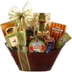 Alder Creek Large Brie Food Gift Basket 13 Pc Gourmet Set Classic Sweet Savory #AlderCreekGiftBaskets