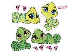 Turtle Images, Best Friend Drawings, Tatty Teddy, Baby Art, Cute Characters, Doodle Art, Cute Art, Vector Art, Coloring Pages