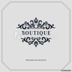 Monogram design elements, graceful template. Calligraphic elegant line art logo design. Letter emblem sign for Royalty, business card, Boutique, Hotel, Heraldic, Jewelry. Vector illustration