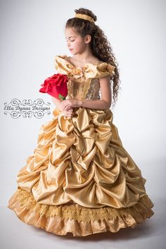 Click here to shop Belle Disney Inspired Princess Gown Costume by Ella Dynae, $370.00 #beautyandthebeast