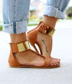 Love the sandals & tattoo.