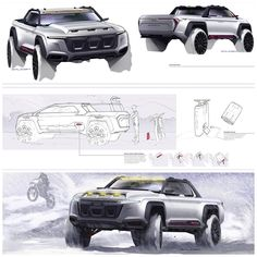 Design Proposal for Audi Quattro Truck by Raleigh Haire http://raleighhaire.tumblr.com/