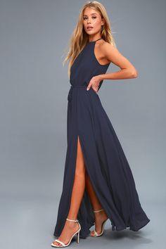 Essence of Style Navy Blue Maxi Dress 2