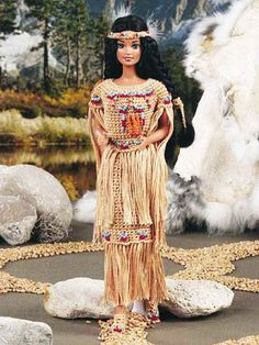 RARE Fashion Barbie Doll THANKSGIVING Indian Dress by LUVFUR