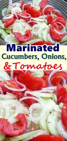 I grew up with this side every summer. Always a great side to a summer time meal. When it comes to classic summer salads, it's hard to beat this Marinated Cucumbers Onions and Tomatoes recipe… #marinated_cucumber_onions_tomatoes #Skinnyrecipes #skinny #weightwatchers #salad #weight_watchers #summer_salads #food #skinnydesserts #tasty #smartpoints #WWrecipes #healthyrecipes #diet #summersalads #recipesideas #cucumber #summersalad #ketorecipes #healthy #healthyeating #vegetarian #summer #dish