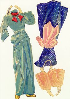 Lynn and Diane's clothes, ca 1940's