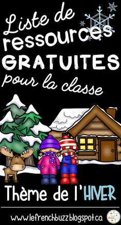 Activités, jeux, vocabulaire et autres ressources gratuites sur le thème de l'hiver à utiliser dans la salle de classe. French Teaching Resources, Teaching French, Learning Resources, Winter Activities, Writing Activities, Daycare Themes, French For Beginners, French Education, Core French